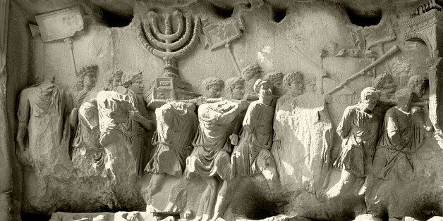 The Roman Forum, Relief from the Arch of Titus showing the triumphal procession after the destruction of Jerusalem in AD 70.