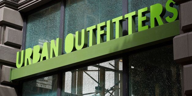 The Urban Outfitters Inc. logo is seen outside a store in San Francisco, California, U.S., on Thursday, Aug. 11, 2011. Retail