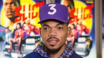 CHICAGO, IL - SEPTEMBER 10:  Chance the Rapper during the premiere of the film 'Slice' at the ArcLight Chicago on September 10, 2018 in Chicago, Illinois.  (Photo by Barry Brecheisen/Getty Images)