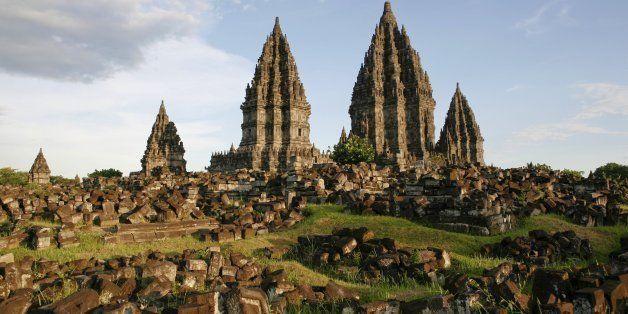 Indonesia, Java, Hindu Temple Complex Prambanan. (Photo by Education Images/UIG via Getty Images)