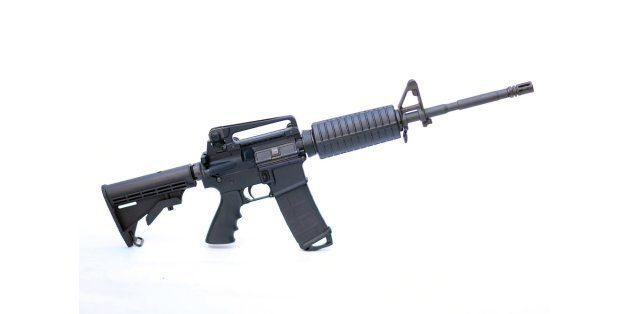 MIAMI, FL - DECEMBER 18:  In this photo illustration a Rock River Arms AR-15 rifle is seen on December 18, 2012 in Miami, Flo