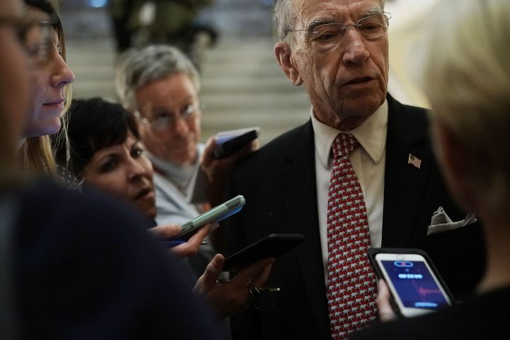 Sen. Chuck Grassley, the chairman of the Senate Judiciary Committee, told reporters on Oct. 5 that it was difficult to r