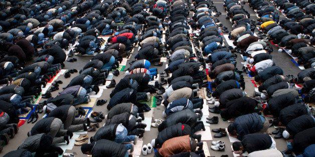 MOSCOW - NOVEMBER 16: Russian Muslims celebrate Eid al-Adha, the 'Feast of Sacrifice', which is known as Kurban Bairam to Rus