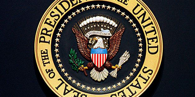 F 369589 01: FILE PHOTO: Seal of the President of the United States. (Photo by Marshall / Liaison Agency)