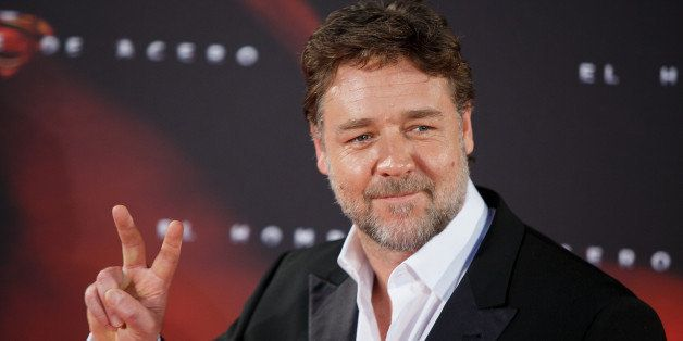 MADRID, SPAIN - JUNE 17: Actor Russell Crowe attends the 'Man of Steel' (El Hombre de Acero) premiere at the Capitol cinema on June 17, 2013 in Madrid, Spain. (Photo by Pablo Blazquez Dominguez/WireImage)