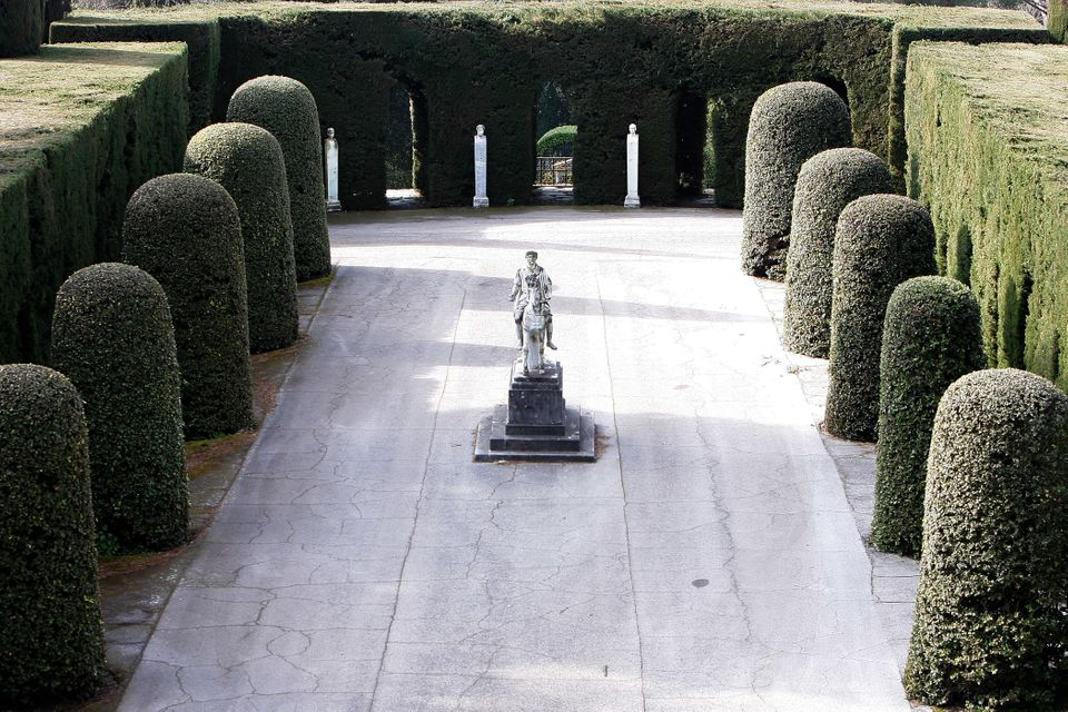 ROME, ITALY - FEBRUARY 20:  A statue stands in the gardens of the Pontifical residence of Castelgandolfo on February 20, 2013