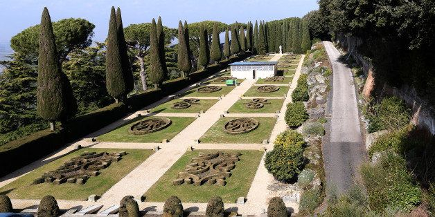 ROME, ITALY - FEBRUARY 20:  The gardens of the Pontifical residence of Castelgandolfo are seen on February 20, 2013 in Rome,