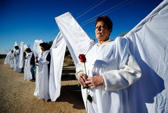 "One of the most powerful WBC counter protests was the 1999 <a href=""http://eatromaine.com/1/laramie-angels.html"" target=""_bla"
