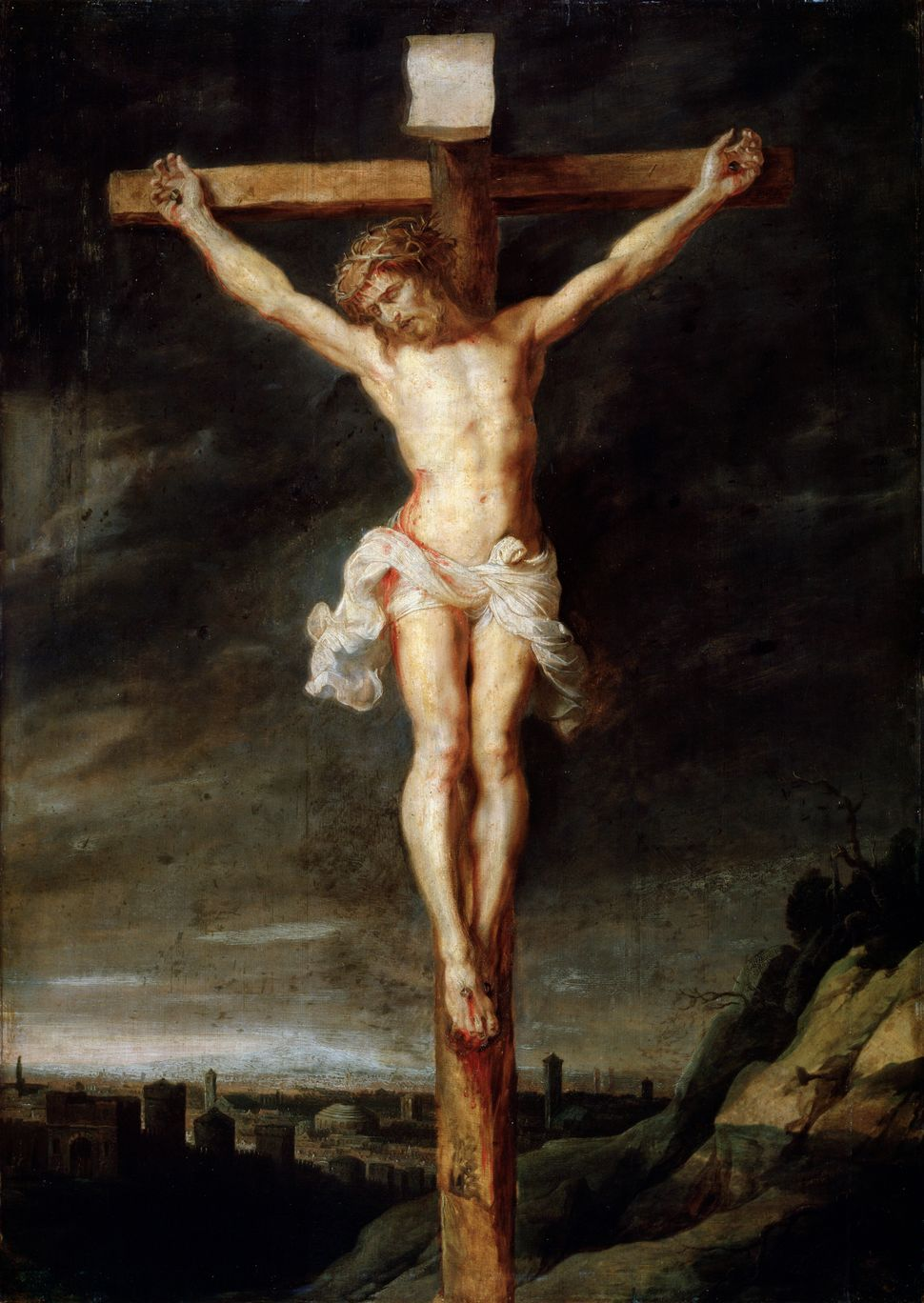 'The Crucifixion'. Rubens, Pieter Paul (1577-1640). Found in the collection of the State M. Ciurlionis Art Museum, Kaunas. (P