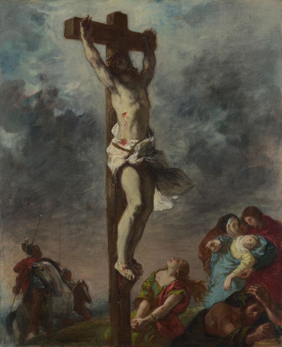 Christ on the Cross, 1853.  Artist: Delacroix, Eugène (1798-1863) Found in the collection of the National Gallery, London. (P