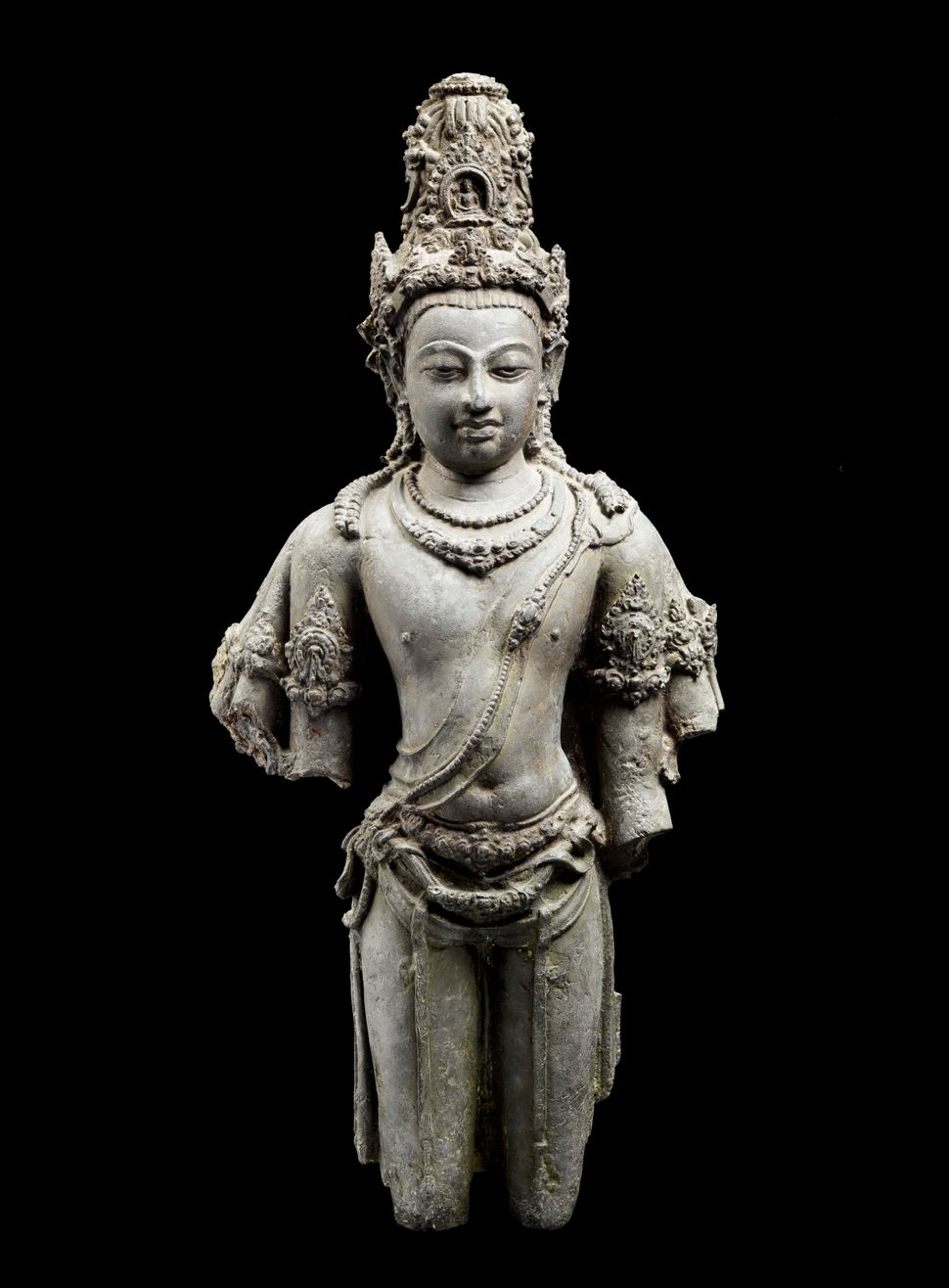 Bodhisattva Avalokiteshvara, Copper alloy with traces of gilding, Lent by National Museum, Bangkok, Photo: Thierry Ollivier