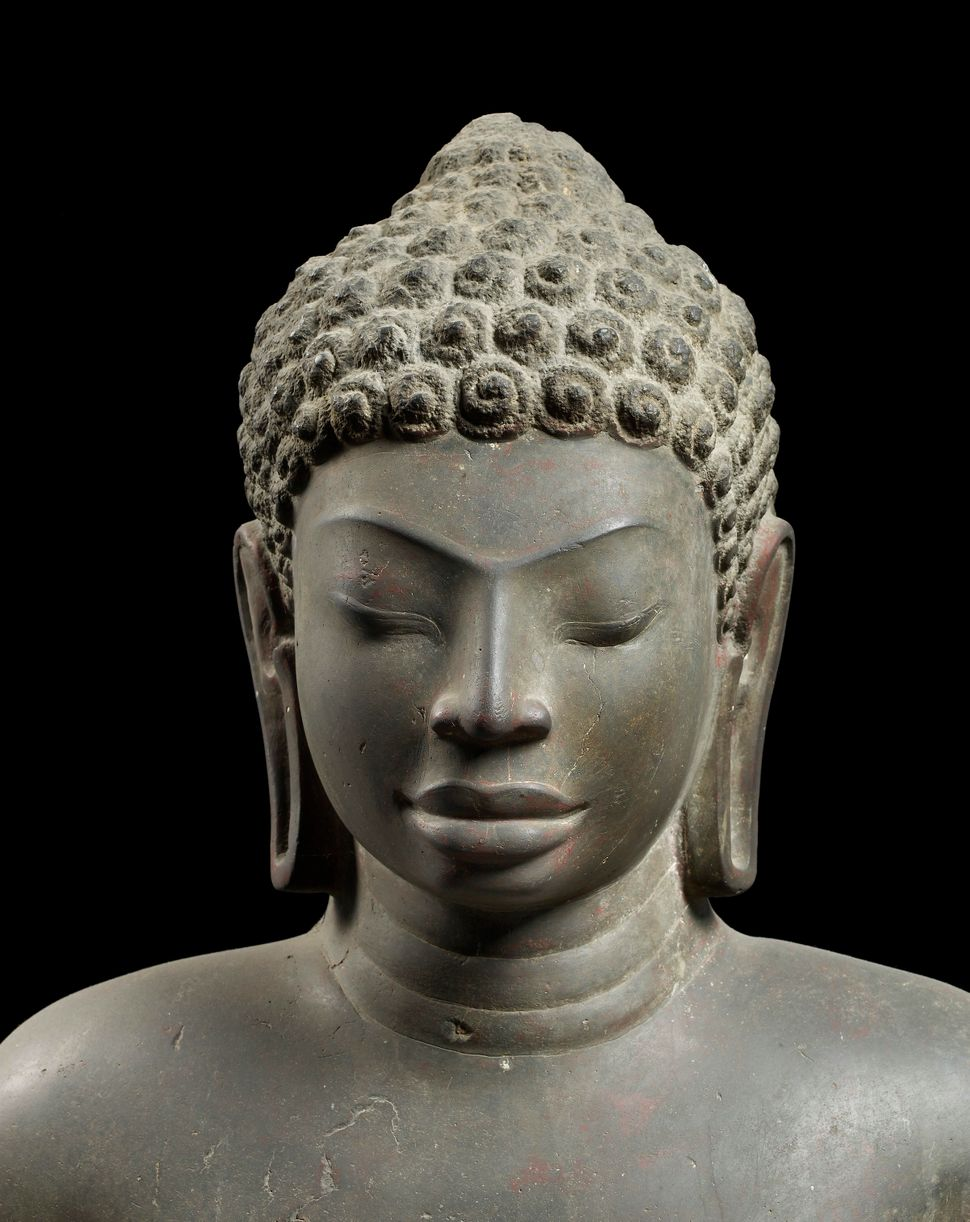 Buddha (detail), Central Thailand, 1st half 7th century, Sandstone., Lent by the National Museum, Bangkok, Thailand, Photo: T