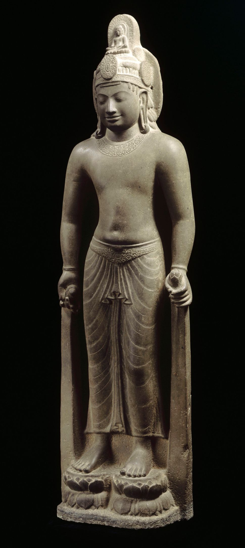 Bodhisattva Avalokiteshvara, Sandstone, Lent by Musée National des Arts Asiatiques–Guimet, Paris, Photo: © RMN-Grand Palais