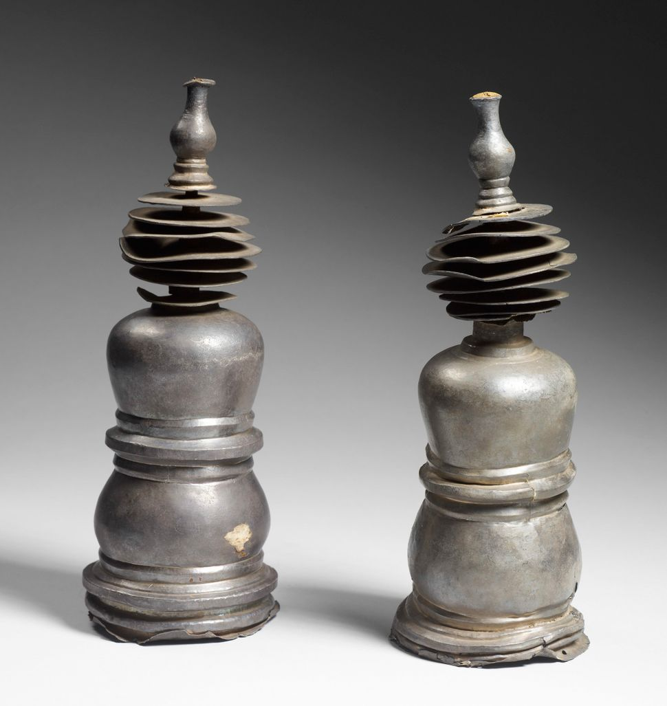 Miniature Stupas, Silver and iron, Lent by National Museum of Myanmar, Yangon, Photo: Thierry Ollivier