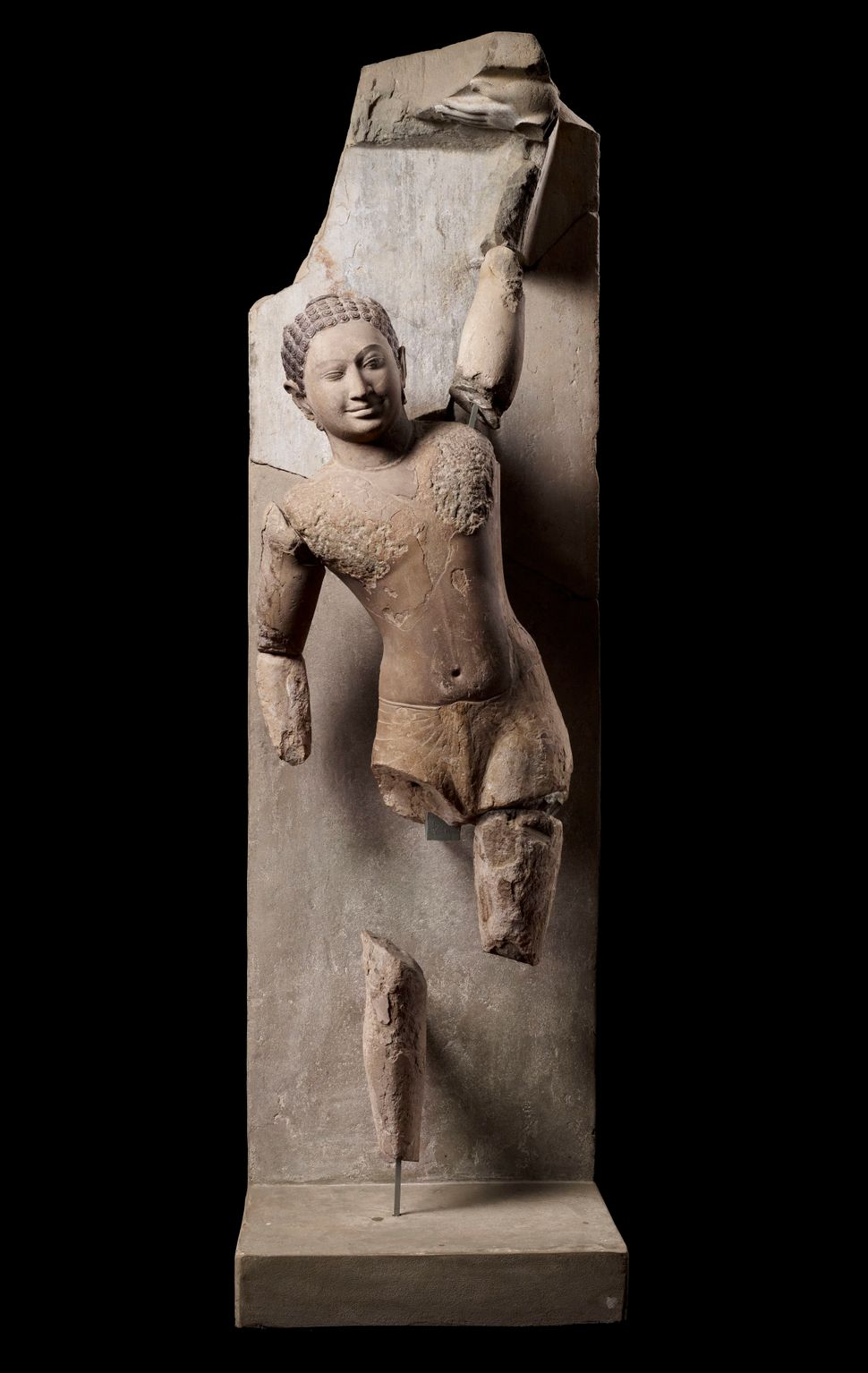 Krishna Govardhana, Sandstone, Lent by National Museum of Cambodia, Phnom Penh, Photo: Thierry Ollivier