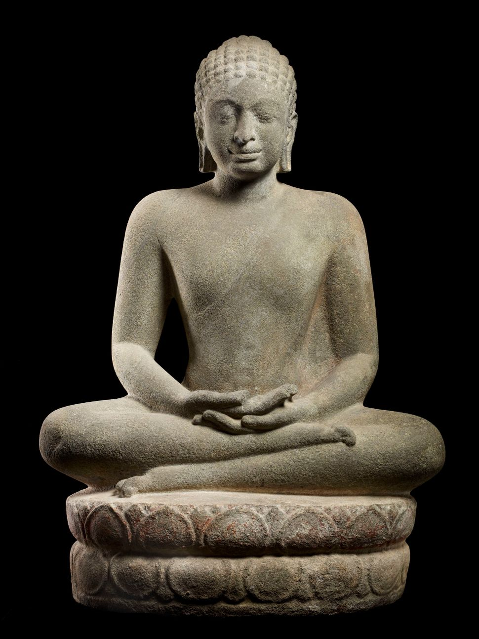 Buddha in Meditation, Sandstone, Lent by Musée National des Arts Asiatiques–Guimet, Paris, Photo: Thierry Ollivier