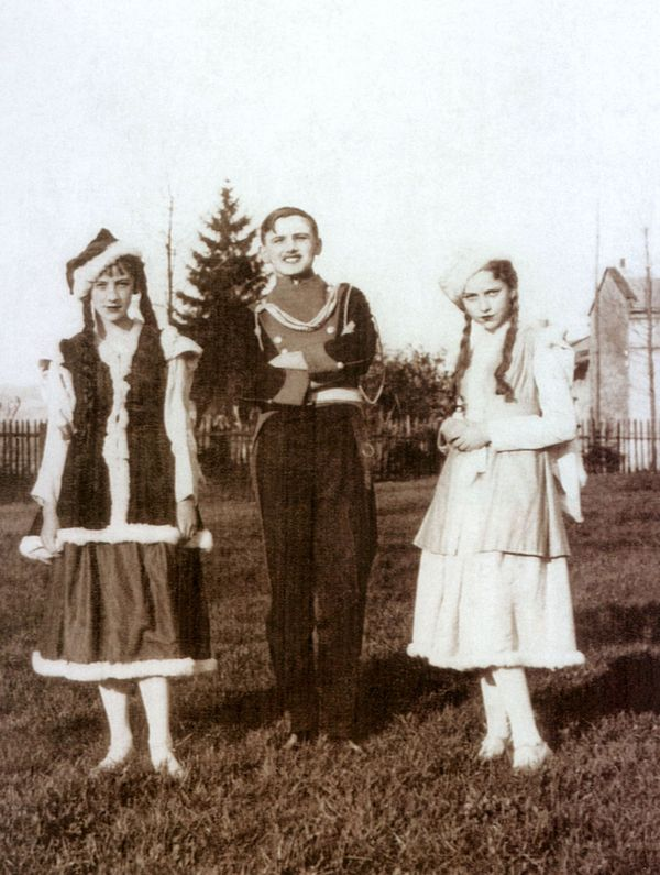 Pope John Paul II (young Karol Wojtyla, in the middle) as Polish lancer in secondary school's play Lancers of Prince Joseph o