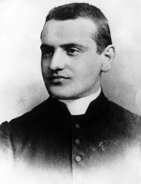 Portrait taken in 1905 of Angelo Giuseppe Roncalli, future Pope John XXIII, at the age of 24 when he was secretary to Bishop
