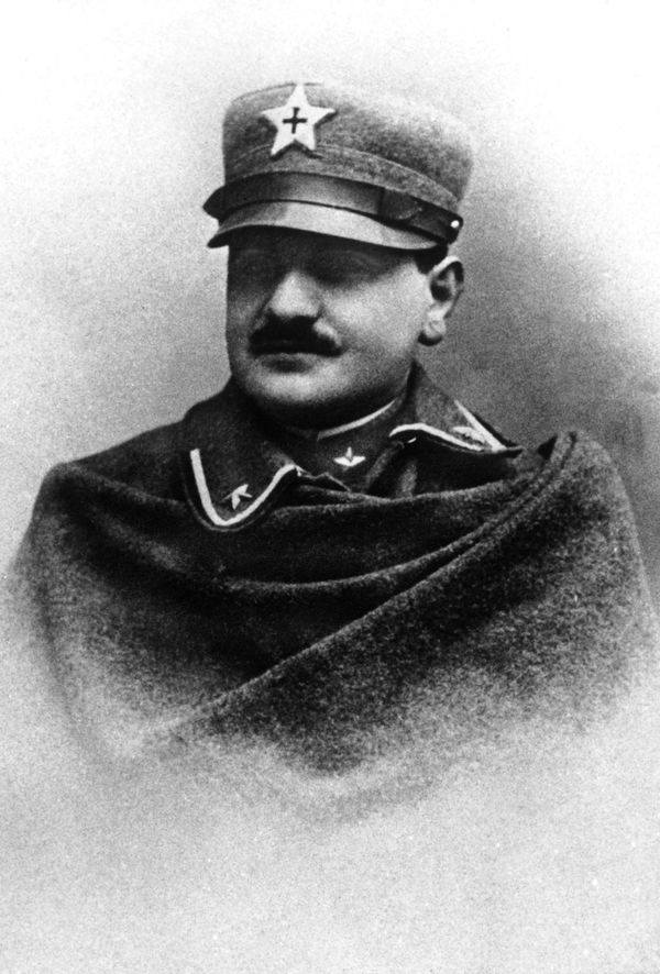 Portrait of the future Pope John XXIII between 1915 and 1918 at Bergamo, Northern Italy, when he was military chaplain. (Phot