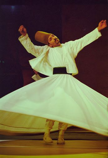 The whirling dervishes from various Sufi lineages feature in most editions of the Fes Festival. They come mainly from Syria a