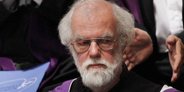 Former Archbishop of Canterbury Rowan Williams receives an honorary degree at St Andrews University in St Andrews, Fife, Scot