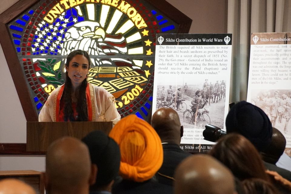 Valarie Kaur speaks in the Pentagon Memorial Chapel in first-ever Sikh event hosted by the Pentagon.