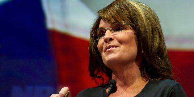 Former Alaska governor and Republican vice presidential  candidate Sarah Palin addresses the annual NRA Convention May 3, 201