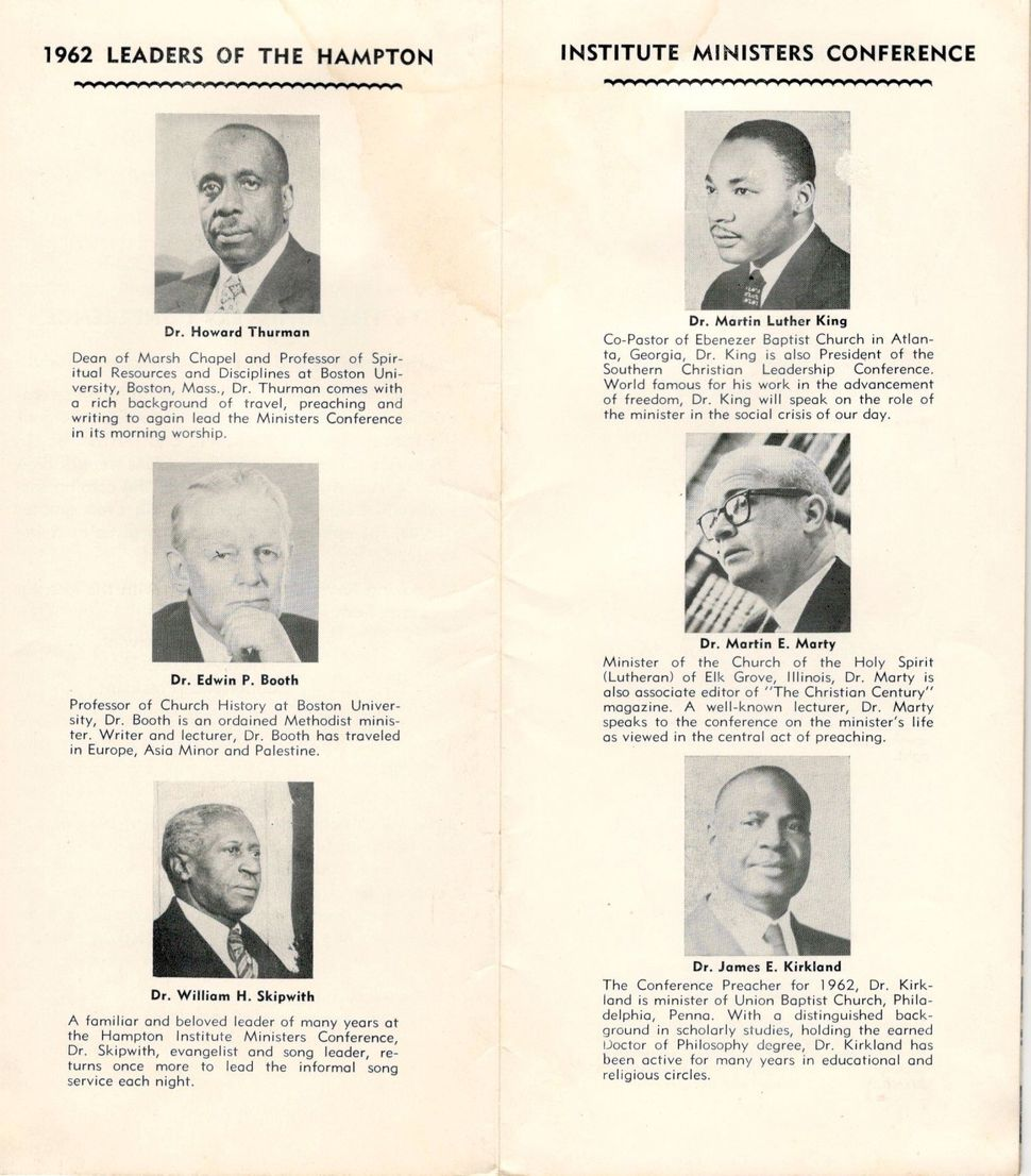 In 1962, Dr. Martin Luther King, Jr. shared words of hope and inspiration at the 48th Ministers' Conference. This is the conf