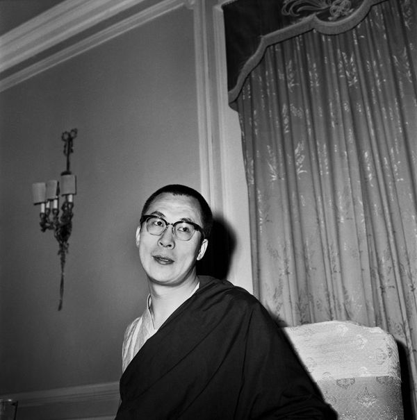The Dalai Lama poses for a photo in October 1967 in India.