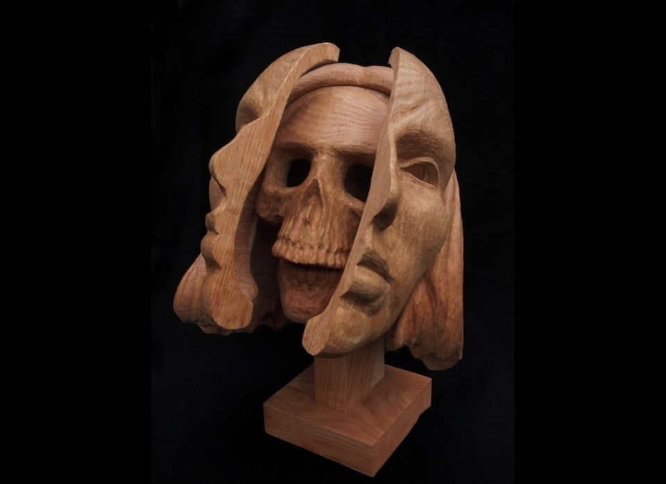 "Santella: ""My sculptural work draws on the ritual woodcarving of medieval Europe, Africa and Pacific Northwest indigenous cul"