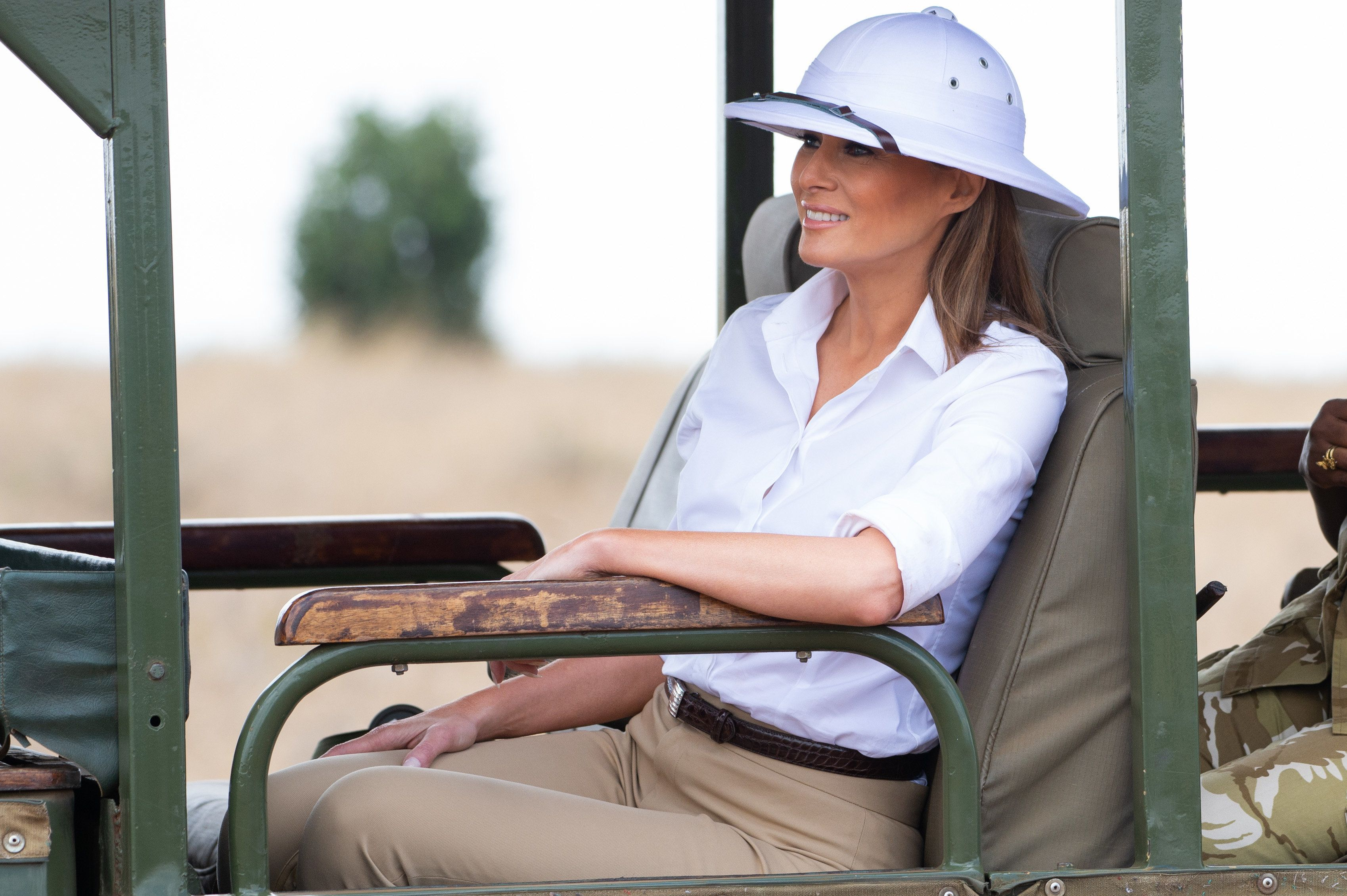Melania Trump's Colonialist Outfit During Africa Trip Has Twitter Users