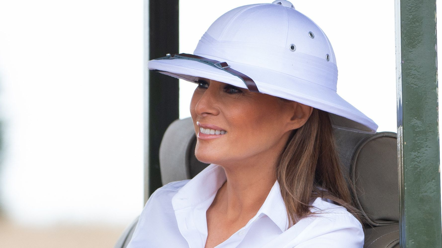 Melania Trump's Colonialist Outfit During Africa Trip Has