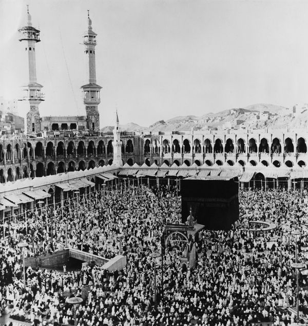 <strong>The Kaaba in the centre of the Masjid al-Haram in Mecca, Saudi Arabia, March 21, 1967. </strong>