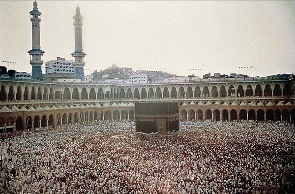 <strong>A picture dated May 1988 shows Muslim pilgrims during the Hajj in Mecca.</strong>