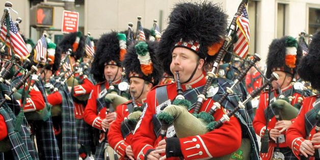 Bagpiper at St. Patrick's Day parade in New York City