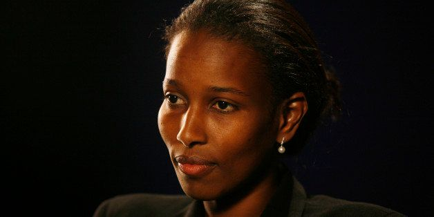 "Ayaan Hirsi Ali, writer of the film ""Submission,"" which criticized the treatment of women in traditional Islam and led to the"