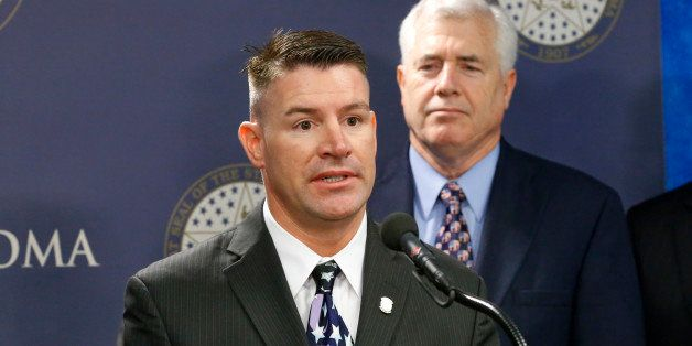 """FILE - In this Friday, April 12, 2013 file photo, Oklahoma state Rep. John Bennett, R-Salisaw, the chairman of the counter terrorism caucus, speaks during a news conference in Oklahoma City. On the 13th anniversary of the Sept. 11 attacks, a Muslim civil rights group and Bennett sparred over a comment the lawmaker posted to his Facebook page urging people to """"be wary"""" of Muslim-Americans. (AP Photo/Sue Ogrocki)"""