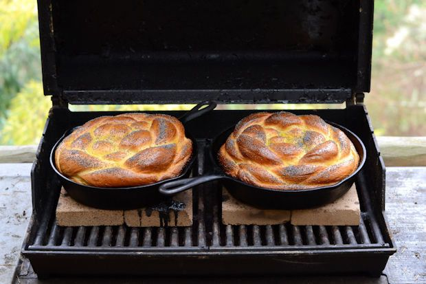 "<strong>Get the <a href=""http://food52.com/recipes/22766-challah-baked-on-the-grill"" target=""_blank"">Challah Baked on the Gri"