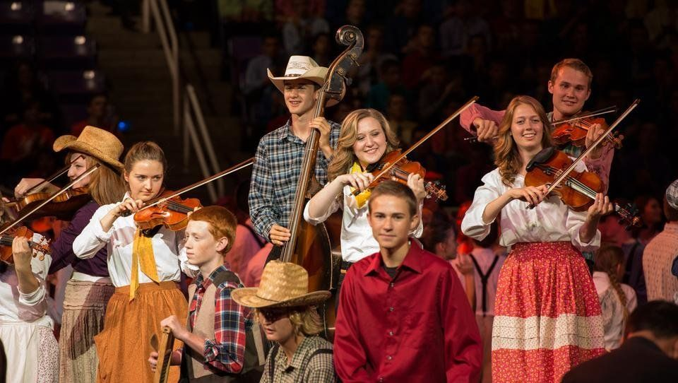 About 16,000 young members of the The Church of Jesus Christ of Latter-day Saints flocked to a cultural center in Ogden, Utah