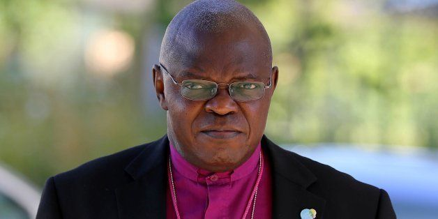 Bishop of York John Sentamu arrives for the Church of England General Synod in York on July 14, 2014.   The Church of England