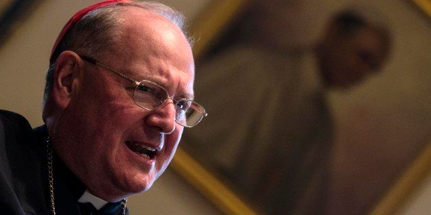 Cardinal Timothy Dolan, the Archbishop of New York, talks during an interview with the Associated Press at the Pontifical Nor