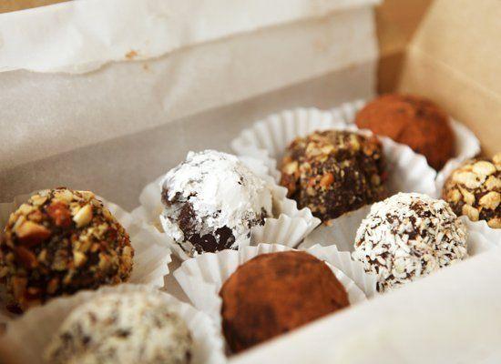 "<strong>Get the <a href=""http://www.huffingtonpost.com/2011/10/27/chocolate-truffle-sampler_n_1057849.html"" target=""_hplink"">"