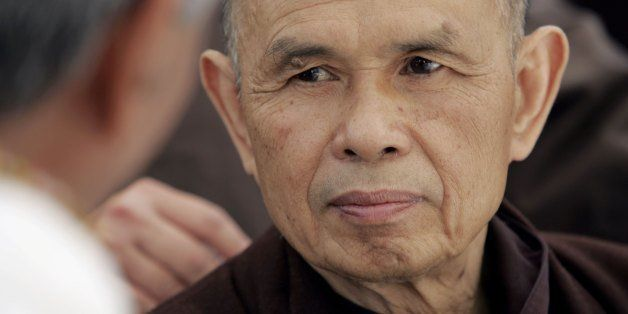 CANNES, FRANCE - MAY 22:  Exiled Vietnamese Buddhist monk Thich Nhat Hanh attends a photocall promoting the film 'Buddha' dur