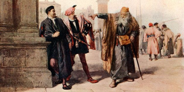SHAKESPEARE - MERCHANT OF VENICE Act III. Scene I by John Gilbert, comedy,  'if you prick us do we not bleed' speech by Shylo
