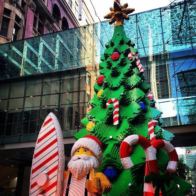 A LEGO Christmas tree is on display in Sydney, Australia on Dec. 2, 2014.