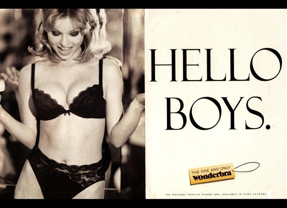 Wonderbra's infamous advert.