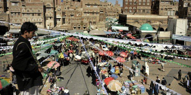 SANAA, YEMEN - JANUARY 01: Preparations are seen for the 1444th anniversary for the celebration of Mawlid al-Nabi, the holy d
