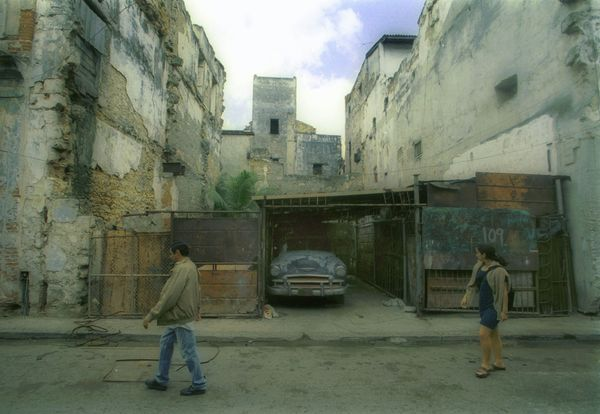 2001 - Street scene in the old part of town of the Cuban capital Havana.