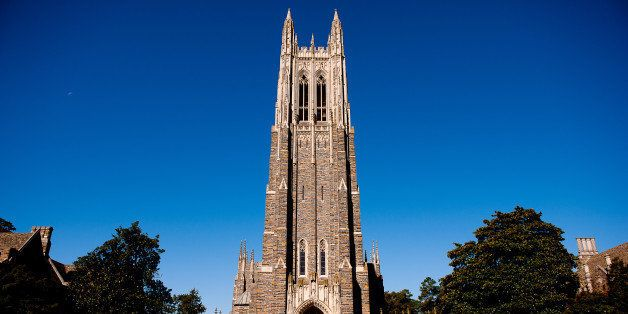 DURHAM, NC - OCTOBER 26: A general view of the Duke University Chapel on campus of Duke University on October 26, 2013 in Dur