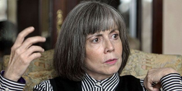 Author Anne Rice talks about her new book during an interview at her home in La Jolla, Calif. Wednesday Oct. 26, 2005. After